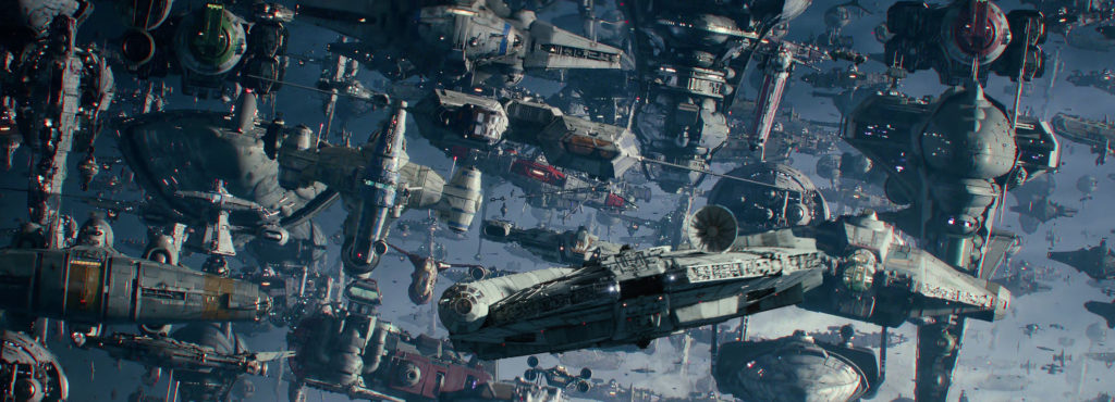 The Millennium Falcon in 'The Rise of Skywalker'