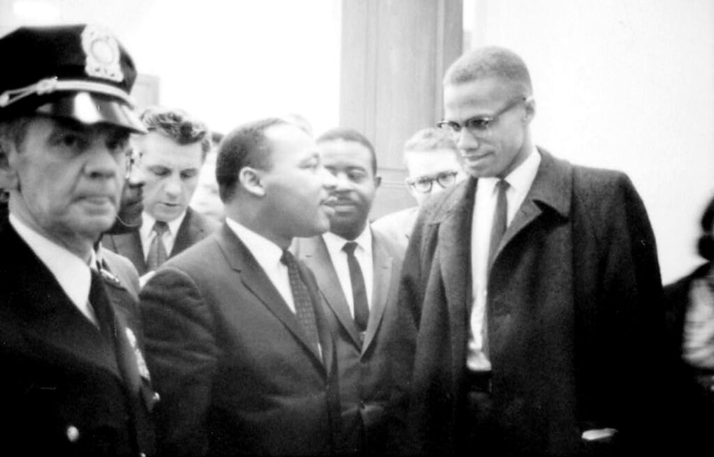 Martin Luther King Jr. and Malcolm X